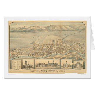 Napa, CA. Panoramic Map (0684A) Card