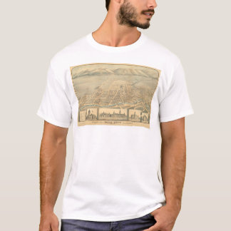 Napa, CA. Panoramic Map (0684A) T-Shirt
