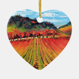 Napa Valley by Lisa Elley Ceramic Heart Decoration