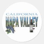 Napa Valley, CA Classic Round Sticker