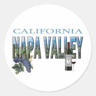 Napa Valley, CA Round Sticker