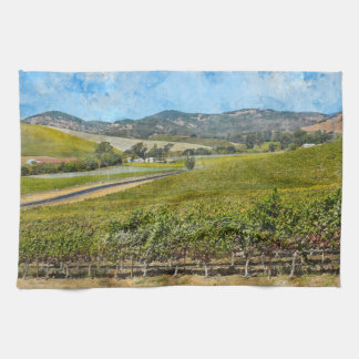 Napa Valley California Tea Towel