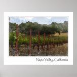 Napa Valley California Vineyard Poster Print