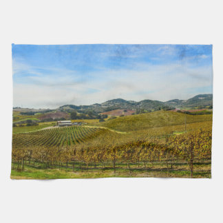 Napa Valley California Vineyard Tea Towel