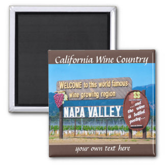Napa Valley  California Wine Country Square Magnet