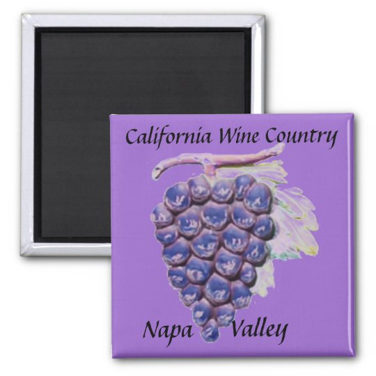 Napa Valley, California Wine Country Square Magnet