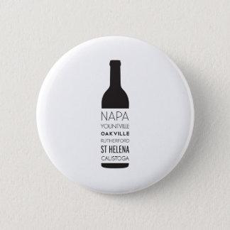 Napa Valley Cities Wine Bottle 6 Cm Round Badge