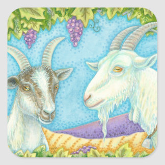 Napa Valley Goats Under Grape Arbor STICKERS Sheet