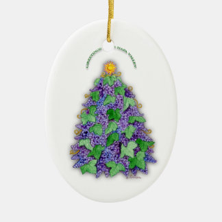 Napa Valley Grapes Christmas Tree Christmas Ornament