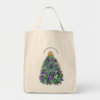 Napa Valley Grapes Christmas Tree Tote Bag