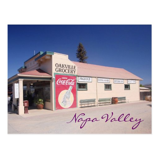 Napa Valley grocery Postcards