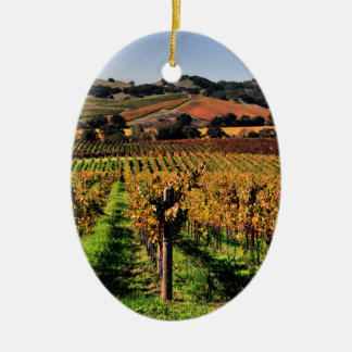 Napa Valley Vineyard Christmas Ornament