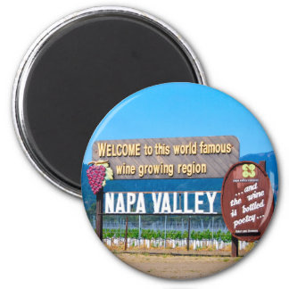 Napa Valley Wine Country 6 Cm Round Magnet