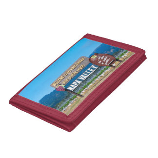 Napa Valley Wine Country Tri-fold Wallets
