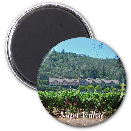 Napa Valley Wine Country Vineyards 6 Cm Round Magnet