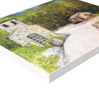 NAPA VALLEY WINERY WATERCOLOR CANVAS PRINT