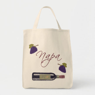 Napa Vintage Wine Bottle Tote Bags