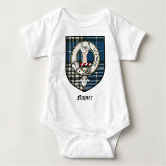 Napier Clan Crest Badge Tartan Tshirt