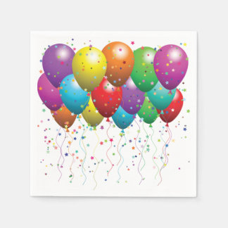 Napkin/Balloons and Confetti Paper Napkins