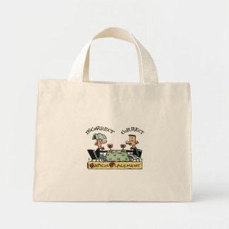 Napkin Etiquette Mini Tote Bag