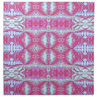 Napkin Light Blue Pink Decorative Design