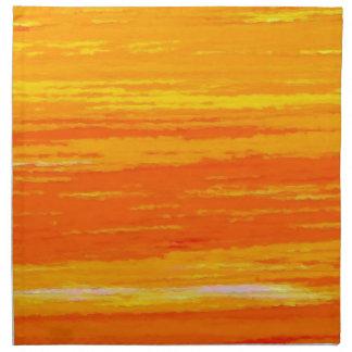 Napkin - Orange Streaks