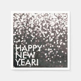 Napkin - Sparkling Happy New Year Black Paper Napkin