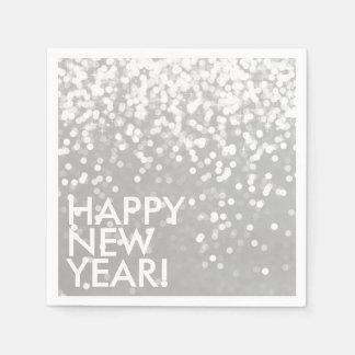 Napkin - Sparkling Happy New Year Silver Paper Napkin