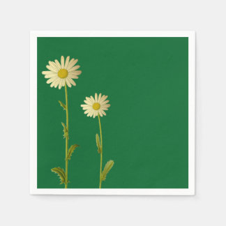 Napkin with daisy flower design disposable serviettes