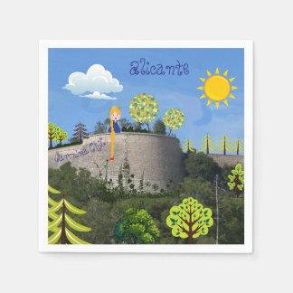Napkins Alicante castle Disposable Serviettes