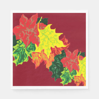 Napkins Autumn Leaves Disposable Napkins