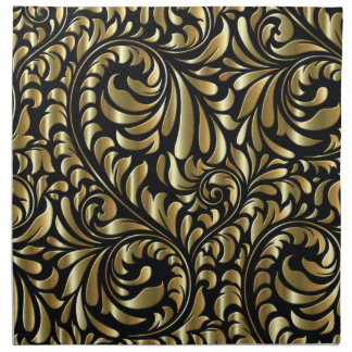 Napkins - Cloth - Drama in Black and Gold