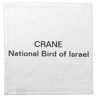 NAPKINS - Crane National Bird of Israel