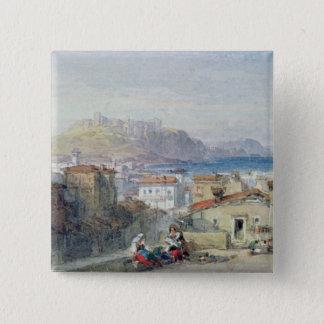 Naples, 19th century; watercolour; 15 cm square badge