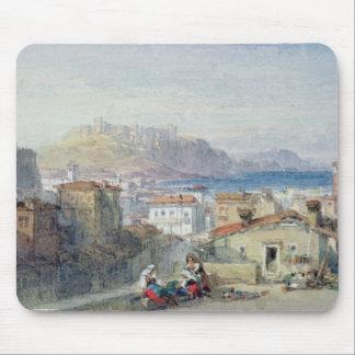 Naples, 19th century; watercolour; mouse mat
