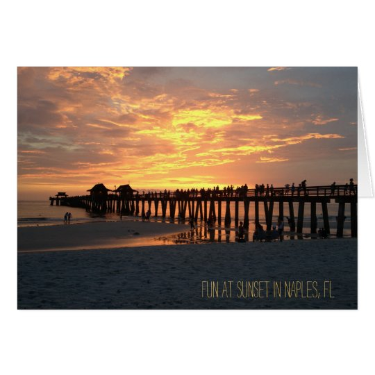 naples fl photograph sunset card