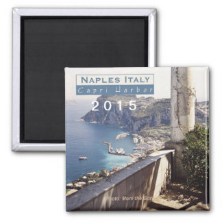 Naples Italy Travel Fridge Magnet Change Year