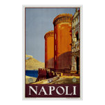 Naples Napoli Italy - Vintage Travel Posters