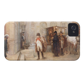 Napoleon after Waterloo (oil on canvas) iPhone 4 Covers