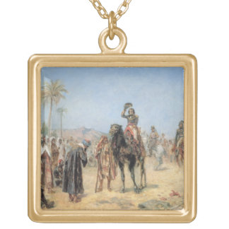 Napoleon Arriving at an Egyptian Oasis (oil on can Necklaces