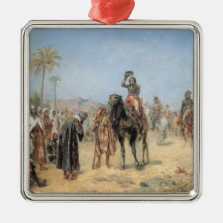 Napoleon Arriving at an Egyptian Oasis (oil on can Silver-Colored Square Decoration