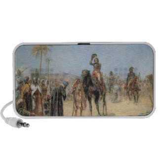 Napoleon Arriving at an Egyptian Oasis (oil on can Laptop Speaker