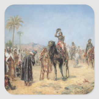 Napoleon Arriving at an Egyptian Oasis (oil on can Square Sticker