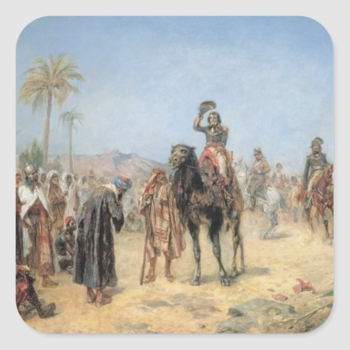 Napoleon Arriving at an Egyptian Oasis (oil on can Stickers