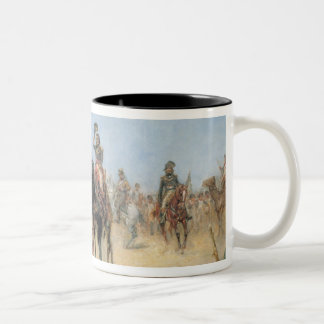 Napoleon Arriving at an Egyptian Oasis (oil on can Two-Tone Coffee Mug
