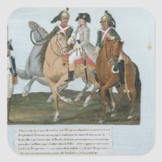 Napoleon Bonaparte  and the Varsovian Sentry Square Sticker