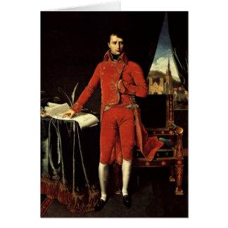Napoleon Bonaparte As Consul By Ingres Dominique Greeting Card