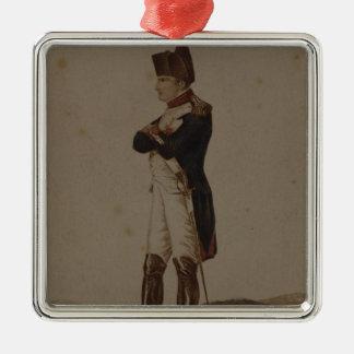 Napoleon Bonaparte as First Consul Silver-Colored Square Decoration
