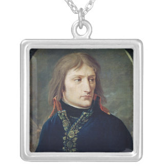 Napoleon Bonaparte  as General-in-Chief Silver Plated Necklace
