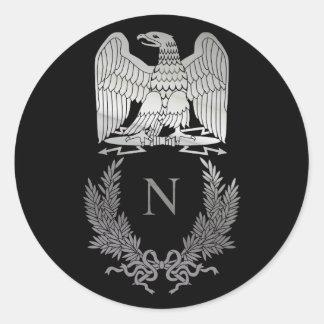 Napoleon Bonaparte Emblem Classic Round Sticker